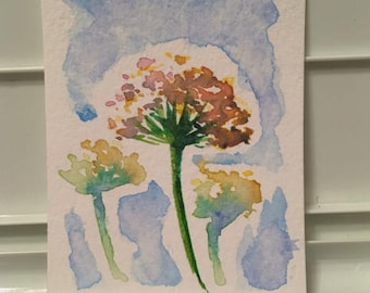 Watercolor Wildflower Card