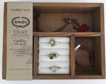 Wood Stackable Jewelry Box Display Tray Organizer Sheffield Home