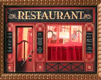 Showcase Miniature Parisian Restaurant