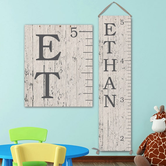 6 Foot Ruler, Canvas Growth Chart Ruler, Wooden Height Chart, Wood Growth Chart, Height Chart, Boy Growth Chart - GC0100D