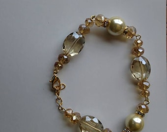Yellow pearl with Amber