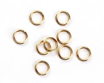 100 4 mm gold stainless steel jump rings