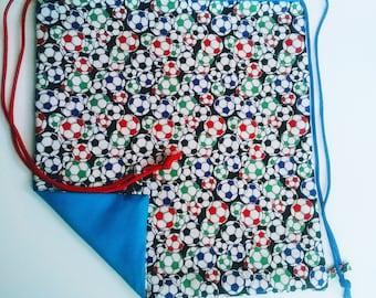 Soccer Reversible Drawstring Bag