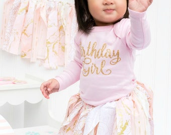 Cake smash outfit - Photo shoot outfit - First birthday shirt - 1st birthday bodysuit - First birthday outfit - Pink and gold first birthday