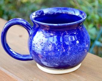 Blue Clouds Handmade Pottery Mug 12oz