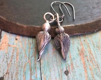 love.  wildcrafted rosebud earrings
