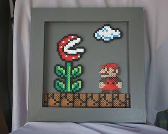 Super Mario Bros Perler Bead Artwork Mario Piranha Plant Nintendo