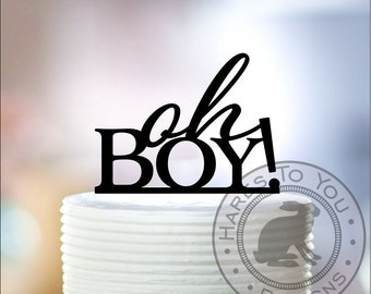 Oh Boy Cake Topper 66-103 - Baby Shower Party Cake Decor - It's a Boy