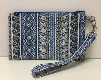 Notions bag, Notions wristlet, Wristlet, Clutch, Bag, Zipper Pouch,