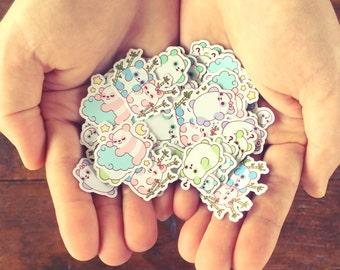 Kawaii Pastel Panda Sticker Flakes