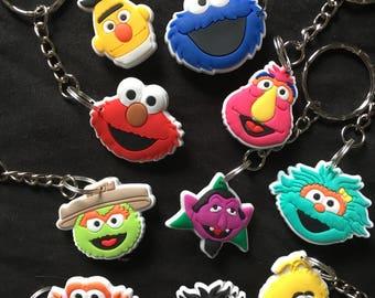 Sesame Street Keyrings/Keychains | cartoon cute emo kids goth fun jake finn minecraft japan kitsch 90s