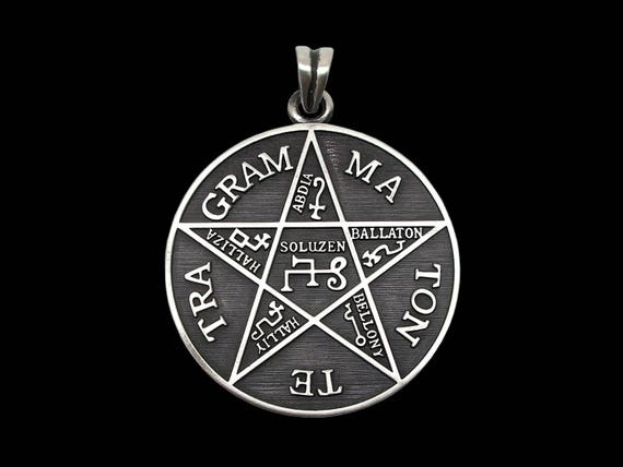 Tetragrammaton pendant sterling silver pentagram of solomon like this item mozeypictures Images