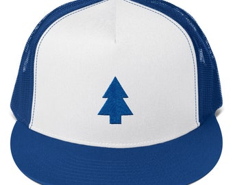 Dipper Pines Trucker Hat Cap Gravity Falls Embroidered Snapback