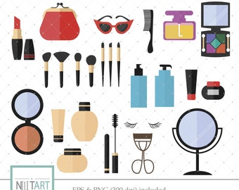 Makeup clip art, makeup kit clip art, beauty kit clip art, vector graphics, digital clip art, digital images - CL 059