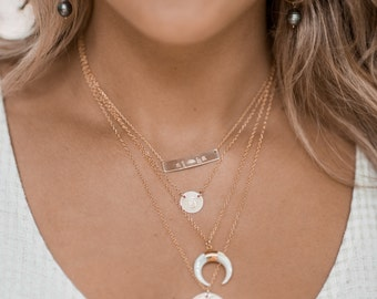 Small MOP Crescent necklace-