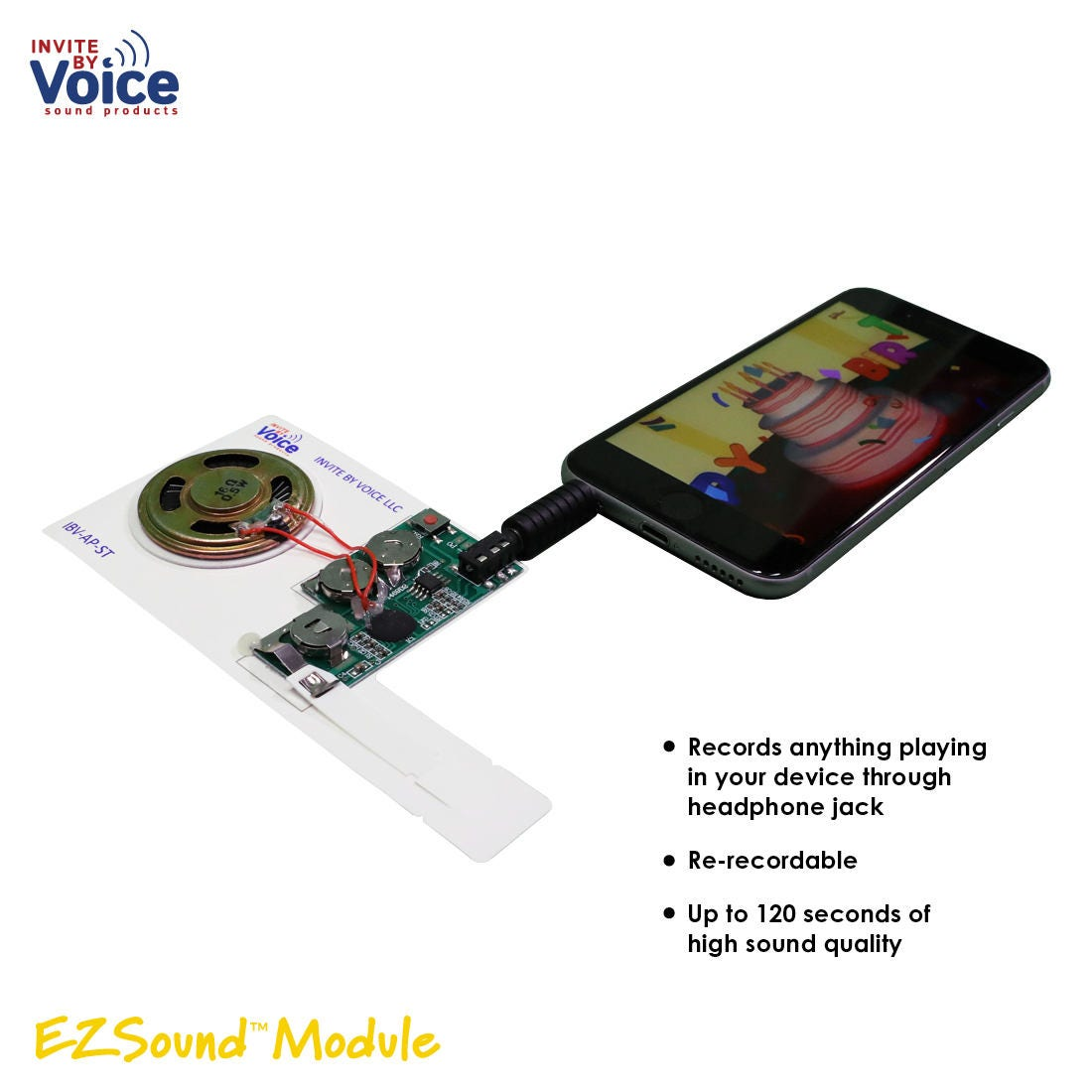 Set Of 3 Re Recordable Voice Module Greeting Card Music Sound