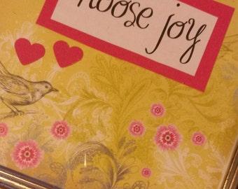 Choose Joy inspirational handmade collage art
