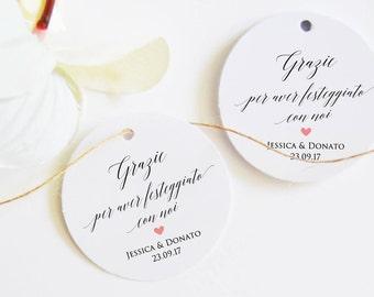 Custom Wedding Labels, Wedding Labels, Tags Names, Close Pack Favors