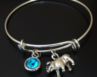 Pig Bangle Bracelet, Adjustable Expandable Bangle Bracelet, Pig Bracelet, Pig Charm, Pig Pendant, Pig Jewelry, Farmers Wife,Farmers Daughter