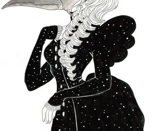 Plague witch -inktober 2017-