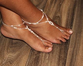 Barefoot Jewelry Rhinestone Barefoot Sandals Beach Wedding Foot Jewelry Anklet Destination Bride Wedding Bridesmaids Gift