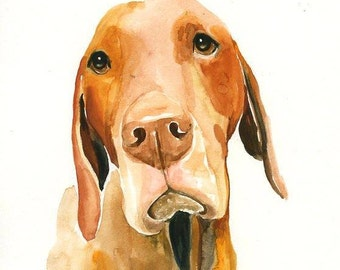 Custom pet portrait watercolor pet portrait dog portrait Custom pet painting Custom dog portrait Original watercolor painting 8X10inch