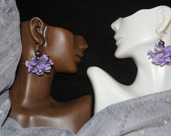 Lavender Fleur Earrings