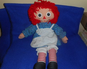 "1994 Playschool Raggedy Ann 21"" Doll.  Super Nice Condition!"