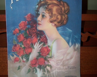 Tears Tell The Story of Me Vintage sheet music 1919 sheet music Collectible sheet music Cover art Romantic sheet music