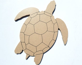 Turtle Plaque - Unfinished MDF 8 inch Sign DIY