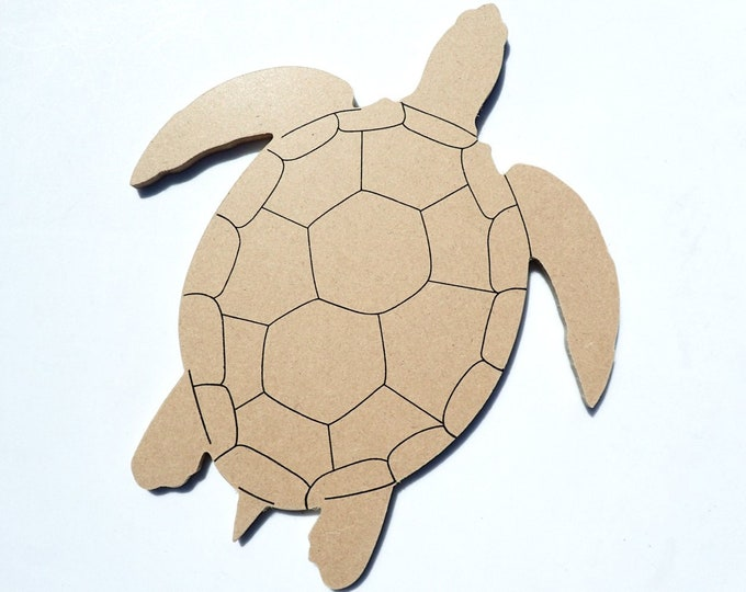 Turtle Plaque - Unfinished MDF 8 inch Sign DIY