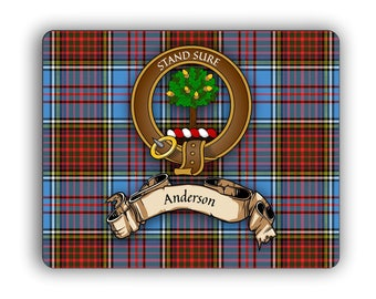 Scottish Clan Anderson Crest Computer Mouse Pad