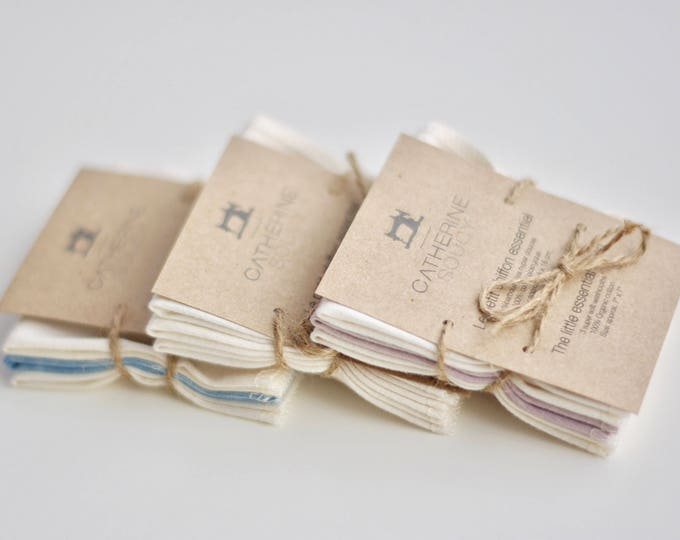 The little essential cloth - Small soft organic cotton jersey washcloths or baby wipes - 3 pack