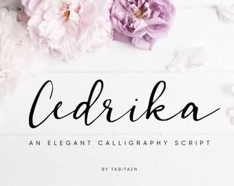 Calligraphy font, Romantic font, wedding font, Modern calligraphy font, Cursive font, Handwritten font, font download, digital font