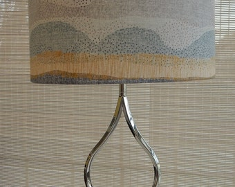 Metal Base with Shade in Songbird fabric