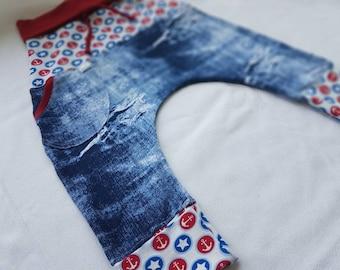 trousers 12/36 months scalable harem imitatiom denin
