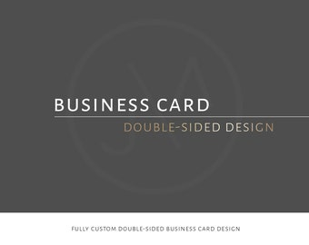 Custom Business Card, Design, Double-sided, Small Business, Business, Branding Kit, Business Identity, Stationery, Business Cards, Custom