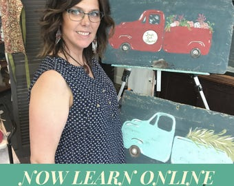 Paint class, learn to paint, online classes, how to paint, Vintage Truck Paint Class now online