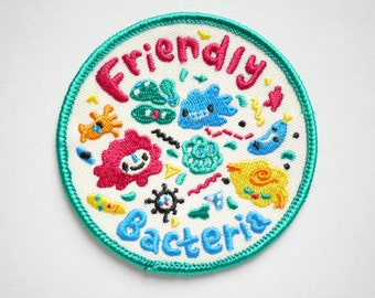 Friendly Bacteria Iron On Patch