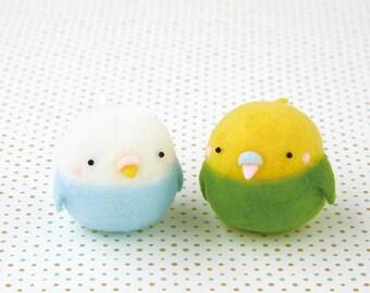 DIY handmade Snow Peas wool felt doll mascot  Parakeet --- Japanese kit package H441-445