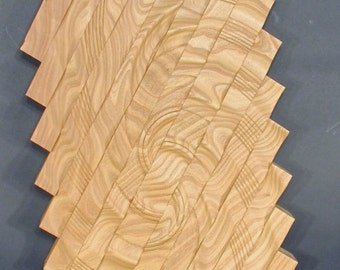"""Sculpture turned wood, """"Mountain Stream"""", wall hanging"""