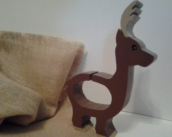Handmade Wooden Deer Bank