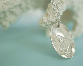 Silver Starfish Necklace - .999 Fine Silver