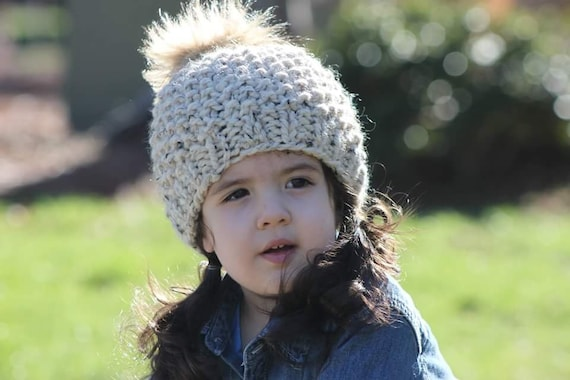 Pom Hat Knitting Pattern Chunky Knit Beanie Pattern Hat Pattern