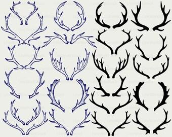 Antlers svg/deer antlers clipart/moose antlers svg/antlers silhouette/antlers cricut/cut files/clip art/digital download designs/svg