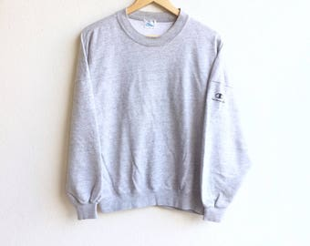 Champion! Vintage 90's CHAMPION PRODUCT U.S.A small logo sweatshirt gray colour large size