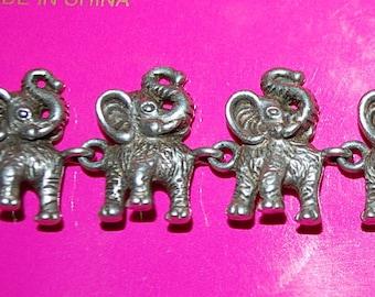 Herd of ELEPHANTS Bracelet Sterling Silver