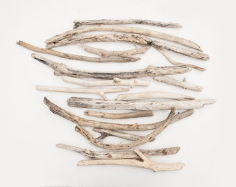 16x CURVED DRIFT WOOD, reclaimed wood pieces, salvage timber, natural craft supplies, organic raw materials, driftwood and branches, diy