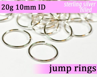 20g 10.0 mm ID silver filled jump rings -- 20g10.00 jumprings
