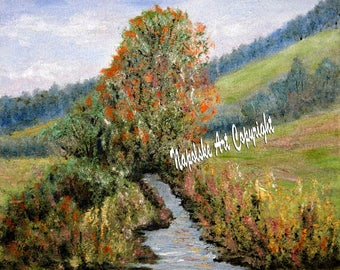 RIUDOSO, NM Fine Art Print from my Painting by Napolske Fine Art